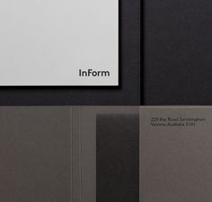 Logo and stationery for architectural design and building firm InForm by Hofstede