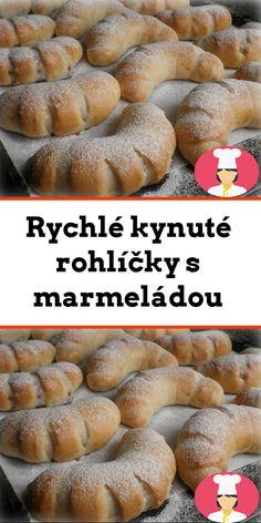 Rychlé kynuté rohlícky s marmeládou Hamburger, Bread, Brot, Baking, Burgers, Breads, Buns