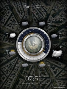 Stay up to date with daily web design news:  http://www.fb.com/mizkowebdesign    Cool-looking weather app.    #webdesign #design #designer #inspiration #user #interface #ui #web