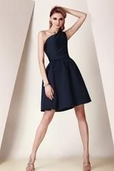 #EricDress - #EricDress Pretty Pleats A-Line One-Shoulder Knee-Length Dashas Bridesmaid Dress - AdoreWe.com