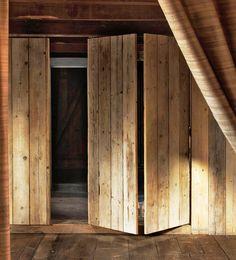 Raw wood doors