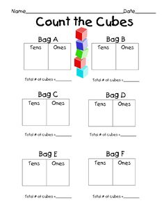 Erica Bohrer's First Grade: Tens and Ones Math Centers  Place value freebie