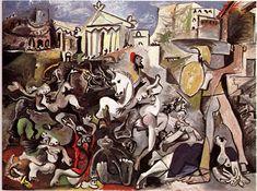 "Pablo Picasso, ""Rape of the Sabine Women"""