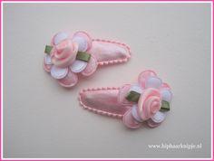 #baby #haarknipjes #roze www.hiphaarknipje.nl