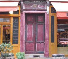 Cafe door in Paris
