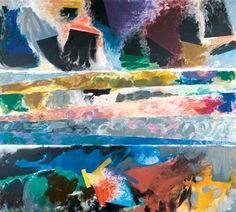 Further Land - Friedel Dzubas Artwork, Art, Abstract, Art Database, Abstract Expressionism, Artwork Painting, Painting, Visual Art, Expressionist Art