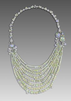 David Morris necklace with opal beads from the 1920s alongside brilliant-cut diamonds. I love this! I've taken a liking to opals.