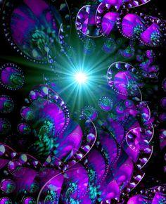 Abstract Art Purple Wall Decor Reiki Energy Art Chakra Art Swirls Print 8 x 10