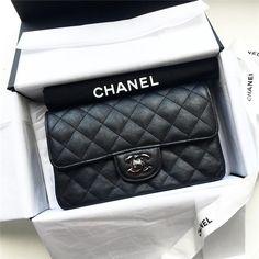 Chanel So Black Mini Rectangle Classic Flap Bag