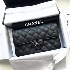 Chanel So Black Mini Rectangle Classic Flap Bag