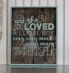 and she loved a little boy by EklektikDesigns on Etsy