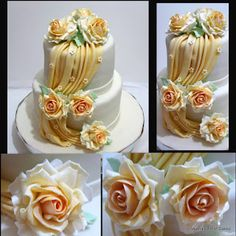 Veena's Art of Cakes: How to make gumpaste Drapes and A Wedding Cake