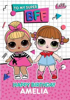 Bff Birthday, Birthday Cards, Baby G, Amelia, Birthdays, Lol, Fictional Characters, Products, Bday Cards