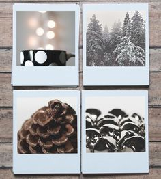 White Polaroid Holiday Cards, Set of 8 by Pockets of Film on Scoutmob Shoppe Merry Christmas Happy Holidays, Winter Holidays, Christmas Holidays, Xmas, Holiday Cards, Christmas Cards, Christmas Decorations, Holiday Decor, Card Tags