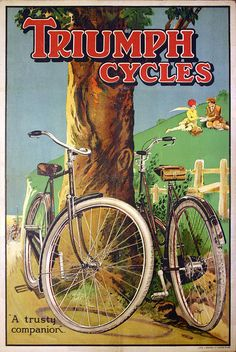 fooloptionboads: Triumph Bicycle Advert- Hillside Picnic by Spacecat, San Francisco on Flickr.