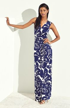 Diane von Furstenberg 'New Yahzi Two' Print Silk Wrap Maxi Dress / Love DVF! A wrap maxi...so great.
