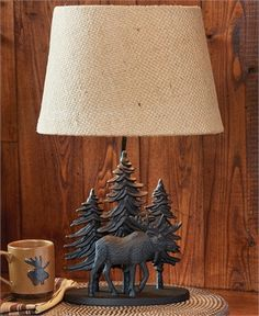 Black Moose Lamp with Shade