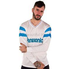 1990-1991 Marseille home long sleeve replica retro football shirt – Beautiful 90s Jean Pierre Papin, World Cup Kits, England Germany, Classic Football Shirts, Jersey Shirt, Retro Fashion, Long Sleeve, Sleeves, Beautiful