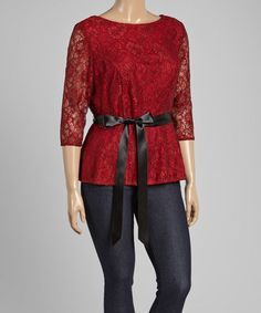 This Red & Black Lace Top would be perfect for holiday parties!  Plan ahead!!!