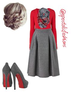 """""""Apostolic Fashions #1002"""" by apostolicfashions on Polyvore featuring American Vintage, Phase Eight, Forever 21 and Christian Louboutin"""