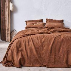 100% Linen Duvet Set in Tobacco — IN BED Store