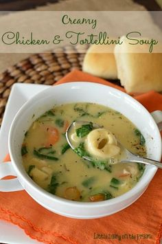 Creamy Chicken and Tortellini Soup
