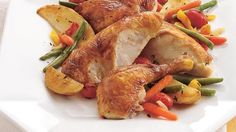 Oven-roasting enhances the natural flavors and color of vegetables. They pair perfectly with chicken.
