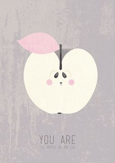 Apple of my Eye  A3 Poster van BigodeDigital op Etsy