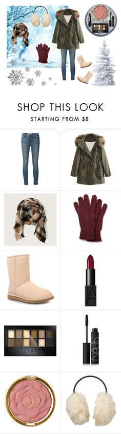 """""""Winter Time :)"""" by bayleigh10 ❤ liked on Polyvore featuring Frame Denim, WithChic, Abercrombie & Fitch, Lacoste, UGG Australia, NARS Cosmetics, Maybelline, Milani, Uniqlo and women's clothing"""