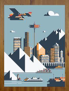 Illustration / RickMurphy_SeattlePrint