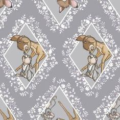 Camelot Disney Bambi 85040105 2 Rose Quartz Bambi Silhouette BTY Cotton Fab