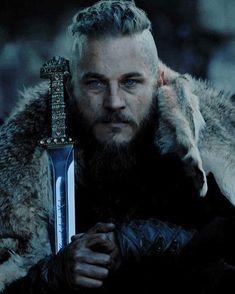 Ragnar Lothbrok portrayed by Travis Fimmel in the tv-series Vikings.