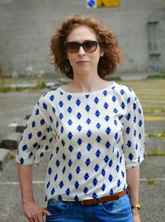 Mixed Emotions: Simplicity 1366 by Cynthia Rowley, Paisley Top.