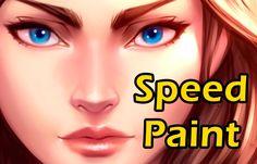 WomanFace_Speed Paint_Paint tool Sai