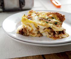 Lasagne allo zafferano, con ragù di ossobuco