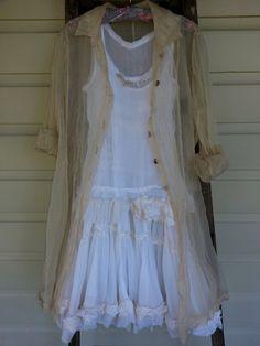 Silk Organza Tailored Jacket Sizes Medium and Large. $145.00, via Etsy.