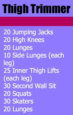 Thunder thighs!? No way...especially with this thigh trimmer workout you can do anywhere