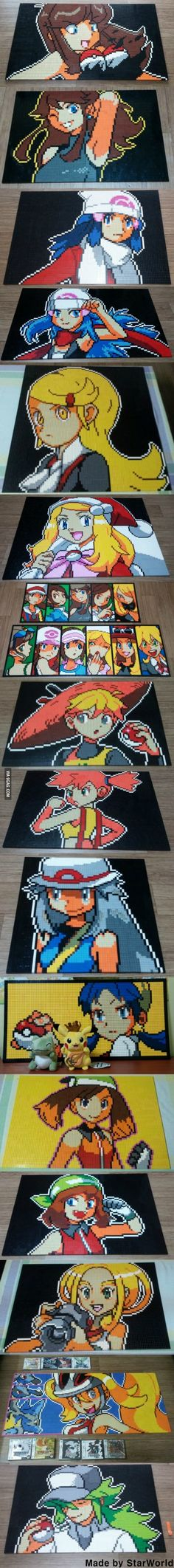Pokemon Dot Images Made From Lego!<<<<Seeing other people who have read the manga makes me happy