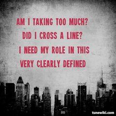 "LyricArt for ""Discipline"" by Nine Inch Nails- so applies to my work situation Lyric Art, Music Lyrics, Art Music, Trent Reznor, Love Of My Life, My Love, Nine Inch Nails, Soundtrack To My Life, No One Loves Me"