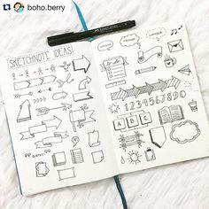 You know you've made it when @boho.berry finds your ideas inspirational. And no I'm not talking about me. @therevisionguide IG account blew up yesterday when people started to recognize her amazing talent. If you've every heard of #bulletjournal or #bujo then I'm sure you already follow @boho.berry but if you were taking s break from instagram yesterday you MUST follow @therevisionguide. Truly amazing ideas for #sketchnotes #doodling and #journalling ・・・ I got so caught up in my adventures…