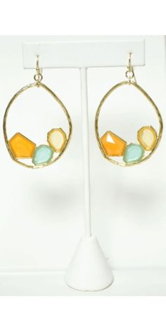 Stone Work Earrings in Orange  http://www.vestique.com/index.php?route=product/product&path=36&product_id=1793