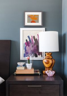 7 Real Bedroom Ideas for Styling Your Nightstand | It doesn't take much to turn around a bedroom that you feel you don't have the energy or funds to fully tackle. Simple bedding (white is always a winner) goes a long way to freshen things up, and a nicely styled nightstand picks up where linens leave off.