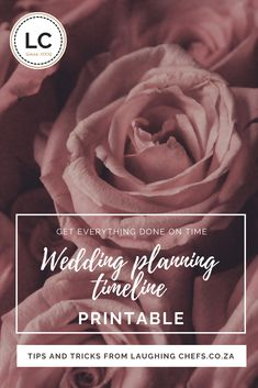 Planning your wedding can be a daunting task, which is why most brides and industry experts would recommend you hire a wedding planner. But, should you wish not to, it is not impossible to plan your own successful wedding. Just use our handy list to keep track of all the different things you need to get done, and also by when. #weddingplanningtimeline #weddingplanning #timeline #laughingchefsweddings #laughingchefscaterers
