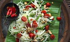David Thompson's green papaya salad. Photograph: Jean Cazals for Observer Food Monthly