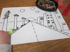 4th Grade One-Point Perspective Drawings are coming along nicely....next step adding color.                                               ...