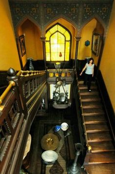 The main staircase at Olana, the historic home of Hudson River School painter Frederic Edwin Church in Hudson. ( Michael P. Farrell / Times Union ) Photo: MICHAEL P. FARRELL
