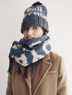 Madewell Brushweave Cocoon coat worn with Bon Voyage beanie + Bon Voyage scarf.