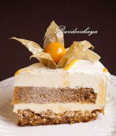 Морковный торт «Беатрис» Попробуйте этот вкусный и нежный морковный торт! Сверху…