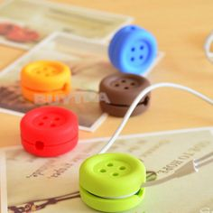Button Cable Cord Wire Organizer Bobbin Winder Smart Wrap For Headphone Earphone #NEW