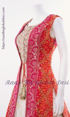 bandhani indian dresses near me Lengha Blouse Designs, Choli Designs, Lehnga Dress, Brocade Dresses, Gown Dress, Indian Designer Outfits, Designer Dresses, Indian Dresses, Indian Outfits